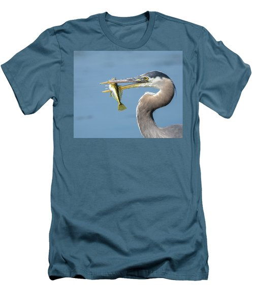 Caught One Men's T-Shirt (Slim Fit) by Keith Boone
