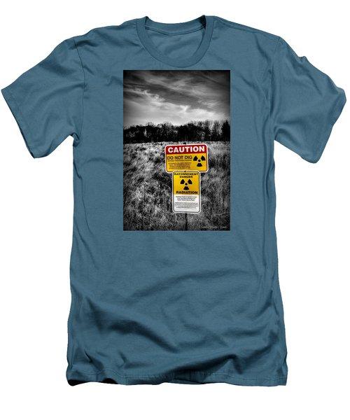 Caution Men's T-Shirt (Slim Fit) by Michaela Preston