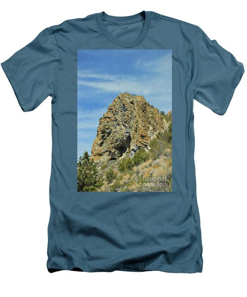 Men's T-Shirt (Slim Fit) featuring the photograph Cave Rock At Tahoe by Benanne Stiens