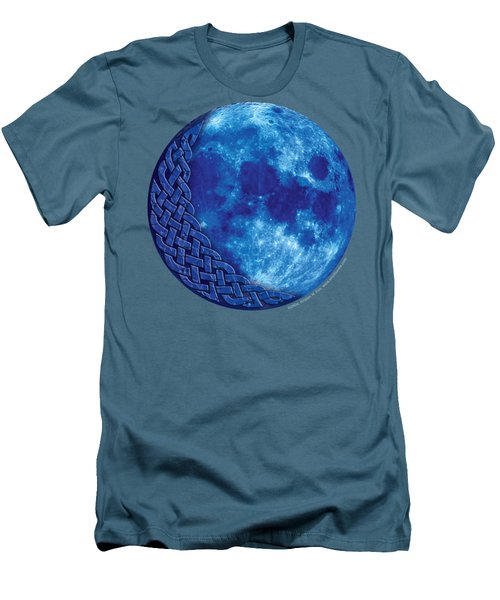 Men's T-Shirt (Slim Fit) featuring the mixed media Celtic Blue Moon by Kristen Fox