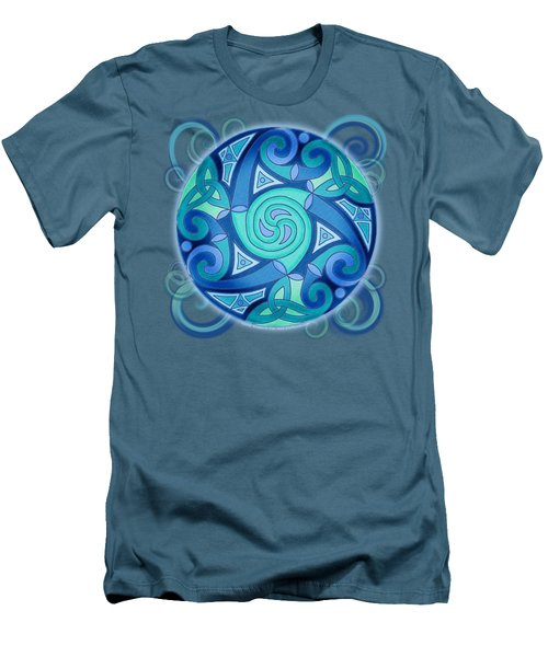 Men's T-Shirt (Slim Fit) featuring the mixed media Celtic Planet by Kristen Fox