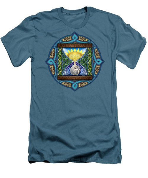 Celtic Sun Moon Hourglass Men's T-Shirt (Athletic Fit)