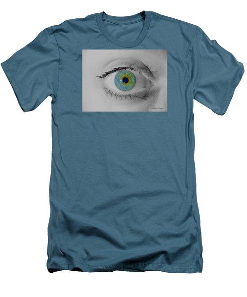 Central Heterochromia  Men's T-Shirt (Athletic Fit)