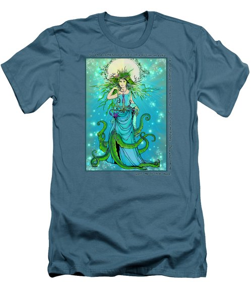 Cephalopod Princess Men's T-Shirt (Slim Fit) by Katherine Nutt