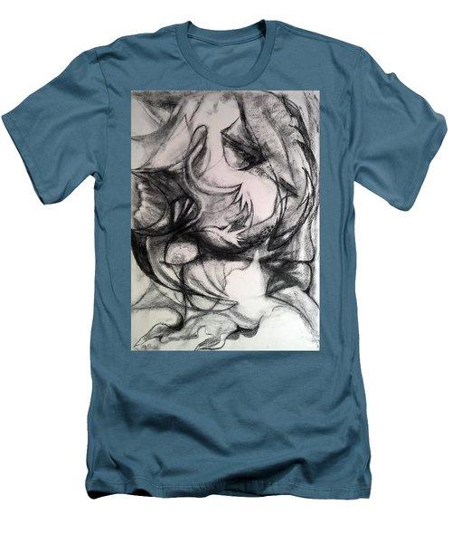 Charcoal Study Men's T-Shirt (Athletic Fit)
