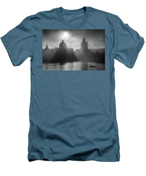 Charles Bridge Towers, Prague, Czech Republic Men's T-Shirt (Athletic Fit)
