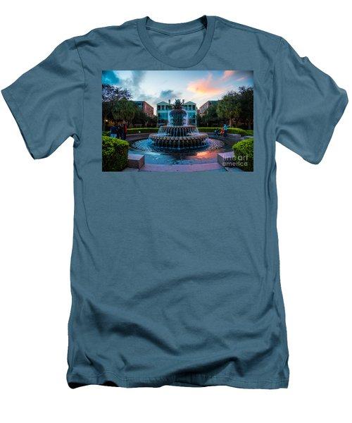 Charleston Pineapple Sunset Men's T-Shirt (Slim Fit) by Robert Loe