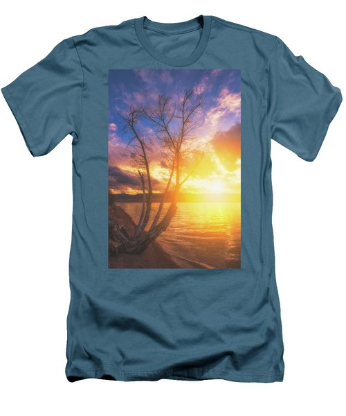 Men's T-Shirt (Athletic Fit) featuring the photograph Chatfield Lake Sunset by Darren White