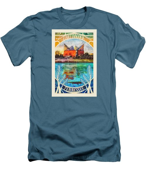 Chattanooga Aquarium Poster Men's T-Shirt (Slim Fit) by Steven Llorca