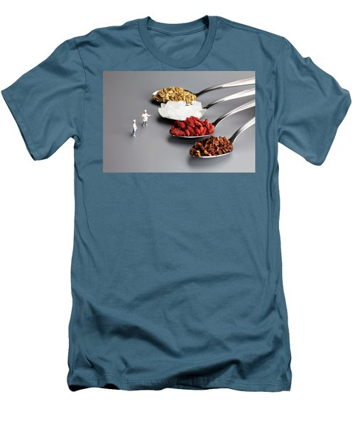 Chef Discussing Cooking Recipes Men's T-Shirt (Athletic Fit)