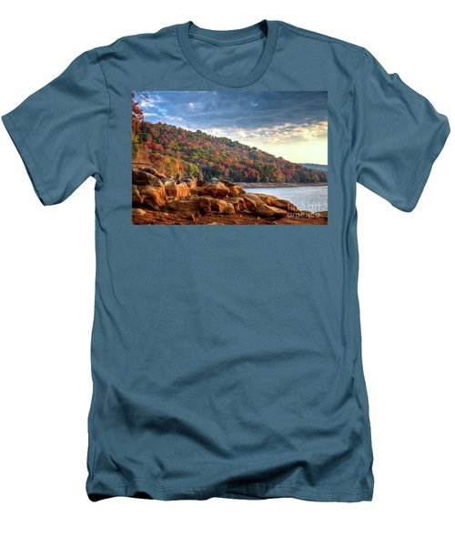 Men's T-Shirt (Slim Fit) featuring the photograph Cherokee Lake Color II by Douglas Stucky