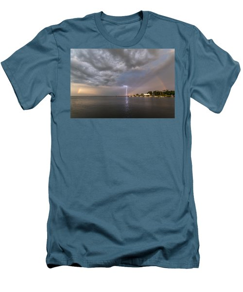 Chesapeake Bay Rainbow Lighting Men's T-Shirt (Athletic Fit)