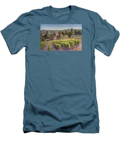 Men's T-Shirt (Slim Fit) featuring the painting Chianti Vineyard by Vikki Bouffard