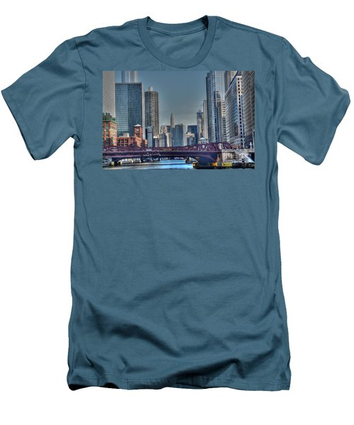 Chicago River East Men's T-Shirt (Athletic Fit)
