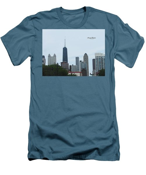 Chicago Skyline Men's T-Shirt (Slim Fit)