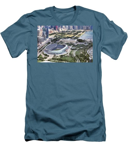 Men's T-Shirt (Slim Fit) featuring the photograph Chicago's Soldier Field by Adam Romanowicz