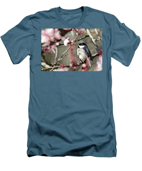 Chickadee Men's T-Shirt (Slim Fit) by Trina Ansel