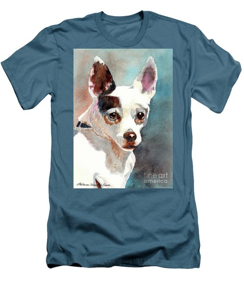 Chihuahua, Dog Painting, Dog Portrait, Dog Prints, Dog Art Men's T-Shirt (Athletic Fit)
