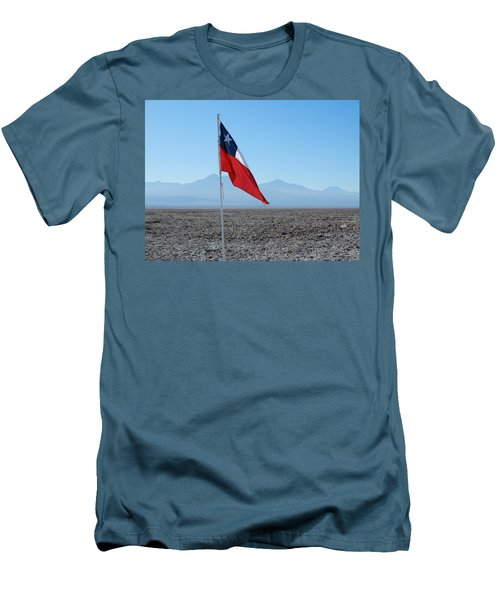 Chilean Flag Men's T-Shirt (Athletic Fit)
