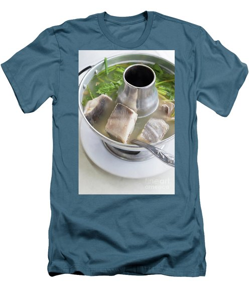 Men's T-Shirt (Slim Fit) featuring the photograph Chinese Silver Pomfret Soup by Atiketta Sangasaeng