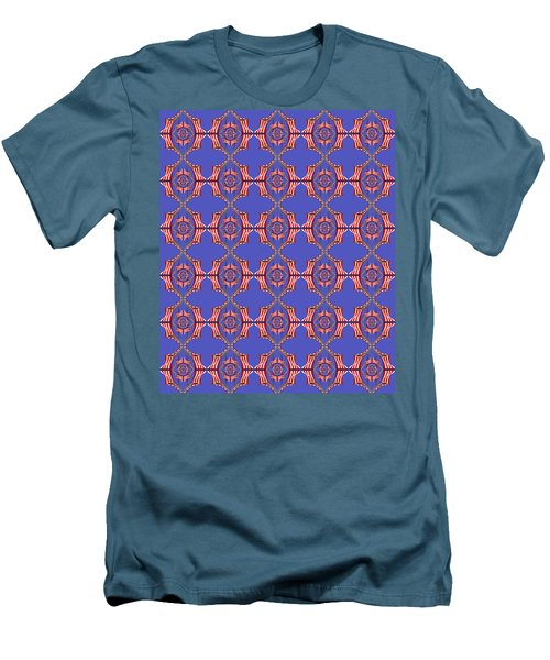 Chock A Block Blue Men's T-Shirt (Athletic Fit)