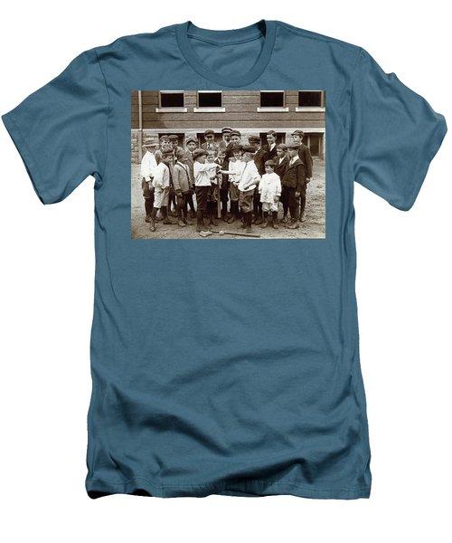 Choosing Baseball Teams Men's T-Shirt (Athletic Fit)