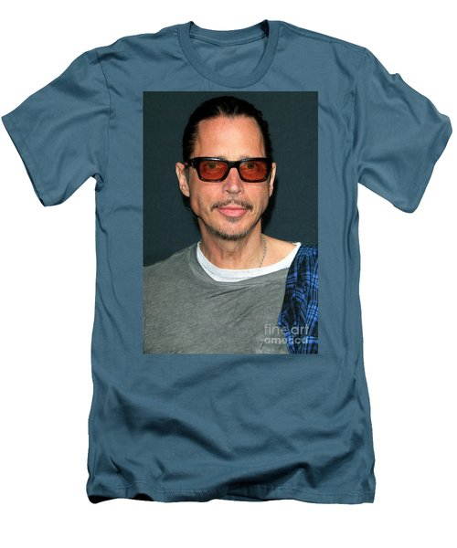 Chris Cornell Men's T-Shirt (Slim Fit) by Nina Prommer