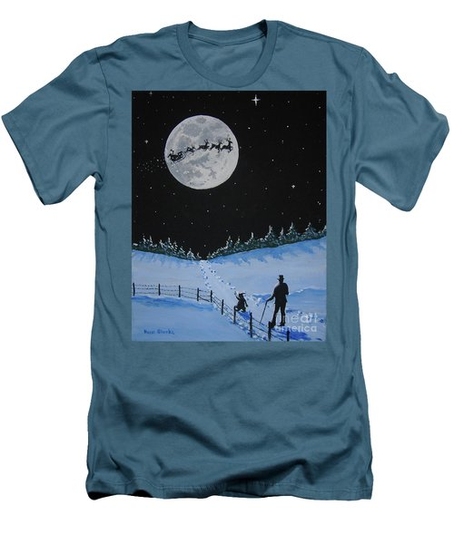 Christmas Eve Stroll Men's T-Shirt (Athletic Fit)