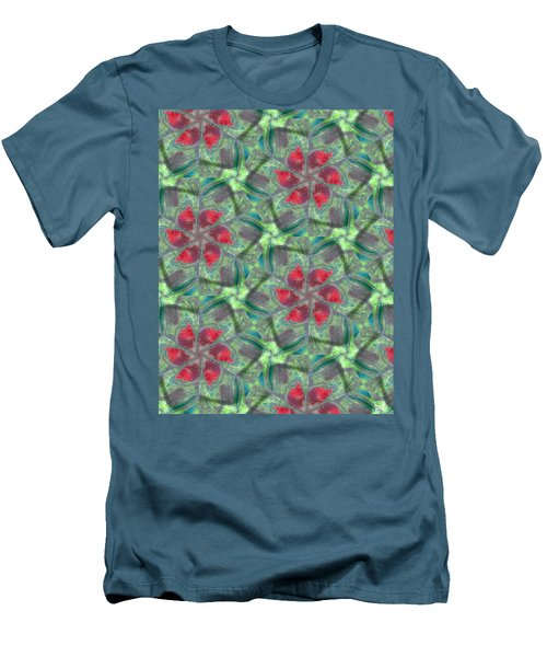 Christmas Flowers Men's T-Shirt (Slim Fit) by Maria Watt