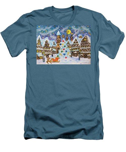 Christmas In Europe Men's T-Shirt (Slim Fit) by Irina Afonskaya
