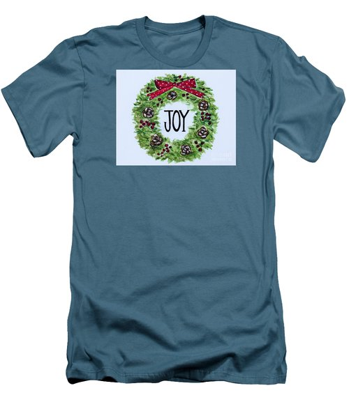 Christmas Joy Men's T-Shirt (Slim Fit) by Elizabeth Robinette Tyndall