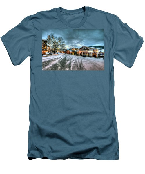 Christmas On Main Street Men's T-Shirt (Athletic Fit)