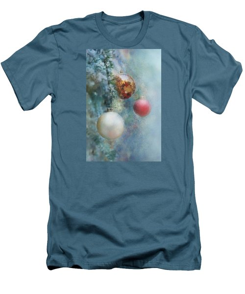 Christmas - Ornaments Men's T-Shirt (Slim Fit) by Nikolyn McDonald