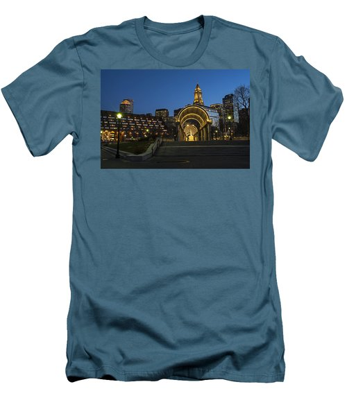 Christopher Columbus Park Boston Ma Trellis Custom House Men's T-Shirt (Athletic Fit)
