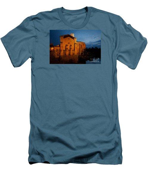 Men's T-Shirt (Slim Fit) featuring the photograph Church 1 by Jean Bernard Roussilhe