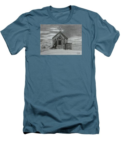 Church  At Bodie  Men's T-Shirt (Slim Fit) by Tony Clark