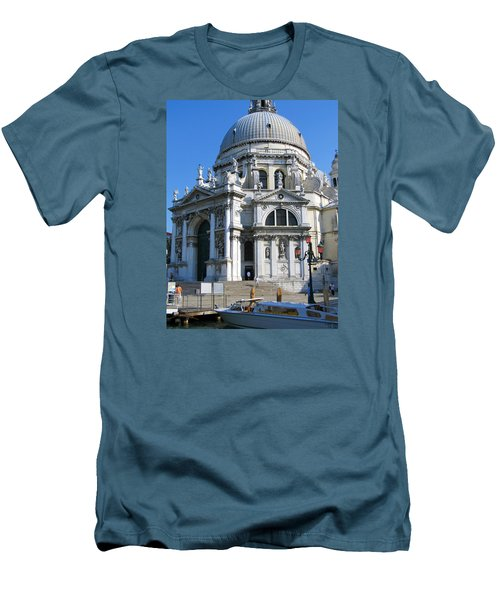 Church In Venice Men's T-Shirt (Slim Fit) by Lisa Boyd
