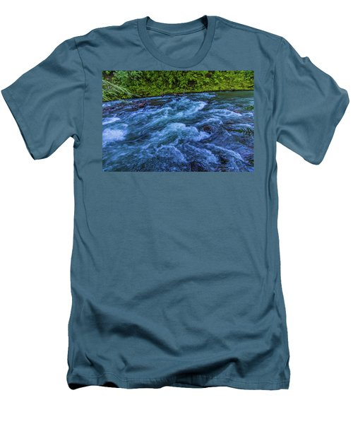 Men's T-Shirt (Athletic Fit) featuring the photograph Churning Water by Jonny D
