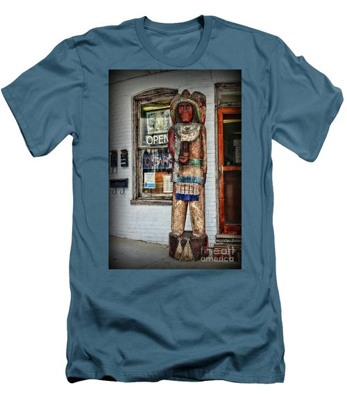 Men's T-Shirt (Slim Fit) featuring the photograph Cigar Store Indian by Paul Ward