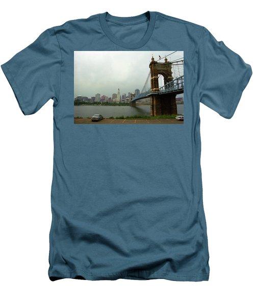 Cincinnati - Roebling Bridge 6 Men's T-Shirt (Slim Fit) by Frank Romeo