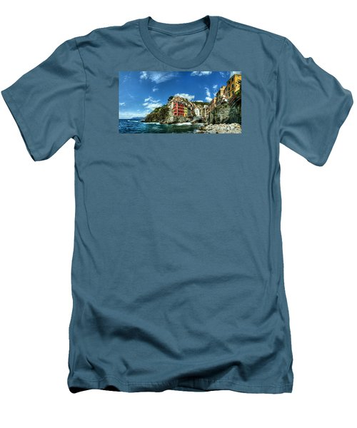 Cinque Terre - View Of Riomaggiore Men's T-Shirt (Athletic Fit)