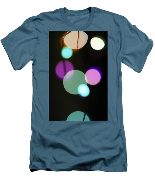 Circles And String Men's T-Shirt (Slim Fit) by Susan Stone