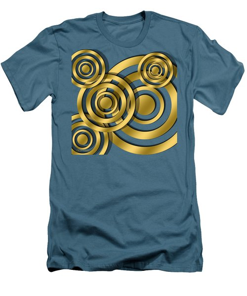Men's T-Shirt (Slim Fit) featuring the digital art Circles - Chuck Staley Design by Chuck Staley