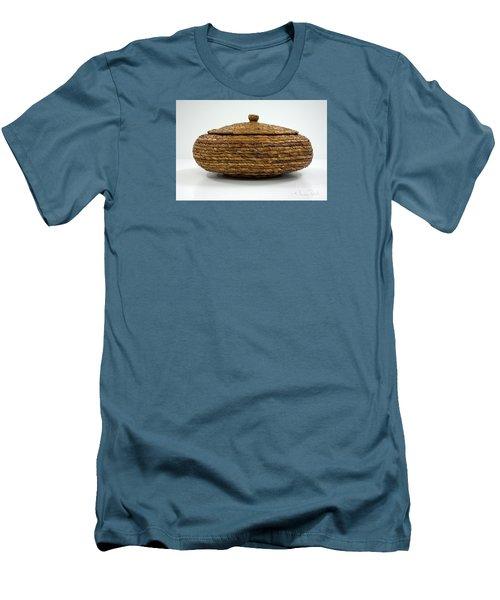 Men's T-Shirt (Slim Fit) featuring the sculpture Circular Bound by Kerryn Madsen-Pietsch