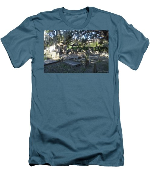 Circular Congregational Graveyard 1 Men's T-Shirt (Slim Fit) by Gordon Mooneyhan