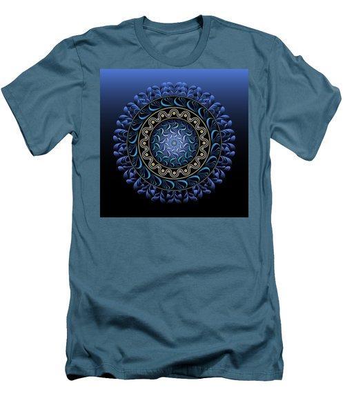 Men's T-Shirt (Slim Fit) featuring the digital art Circularium No 2656 by Alan Bennington