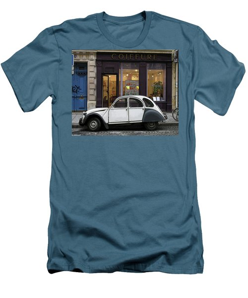 Citroen 2cv Men's T-Shirt (Slim Fit) by Jim Mathis