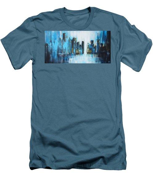 City Blues Men's T-Shirt (Slim Fit) by Theresa Marie Johnson