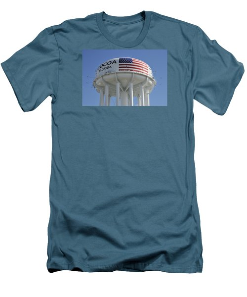 City Of Cocoa Water Tower Men's T-Shirt (Slim Fit) by Bradford Martin
