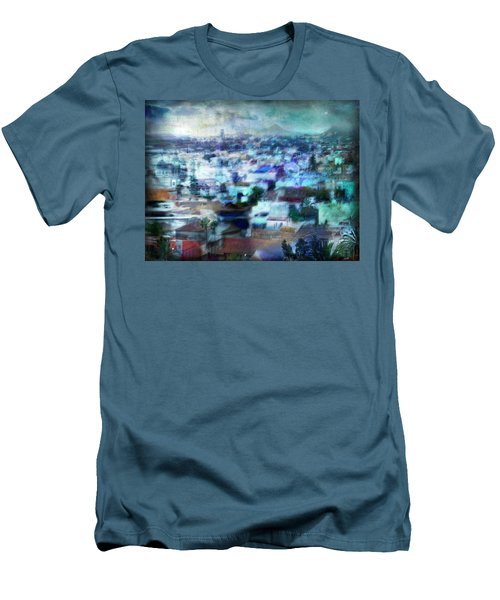 Cityscape #41 - Blue Whispers Men's T-Shirt (Slim Fit) by Alfredo Gonzalez